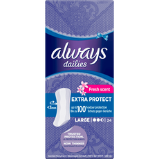 Always Dailies Fresh Extra Protect Inlegkruisjes Large 24 stuks