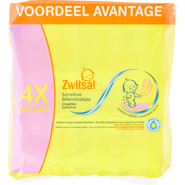 Zwitsal Sensitive Lotiondoekjes 4-Pak