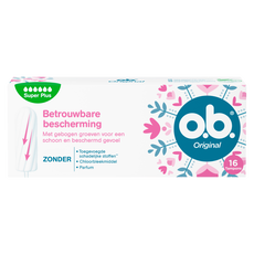 o.b. Original Curved Grooves Tampons Super Plus