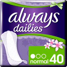 Always Dailies Slim Multiform Inlegkruisjes Normal 40 stuks