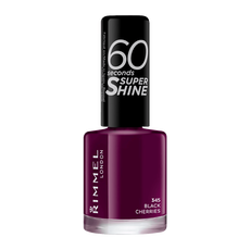 Rimmel London 60 Seconds Supershine Nailpolish - 345 Black Cherries