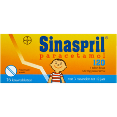 Sinaspril Paracetamol Pepermuntsmaak 120 mg