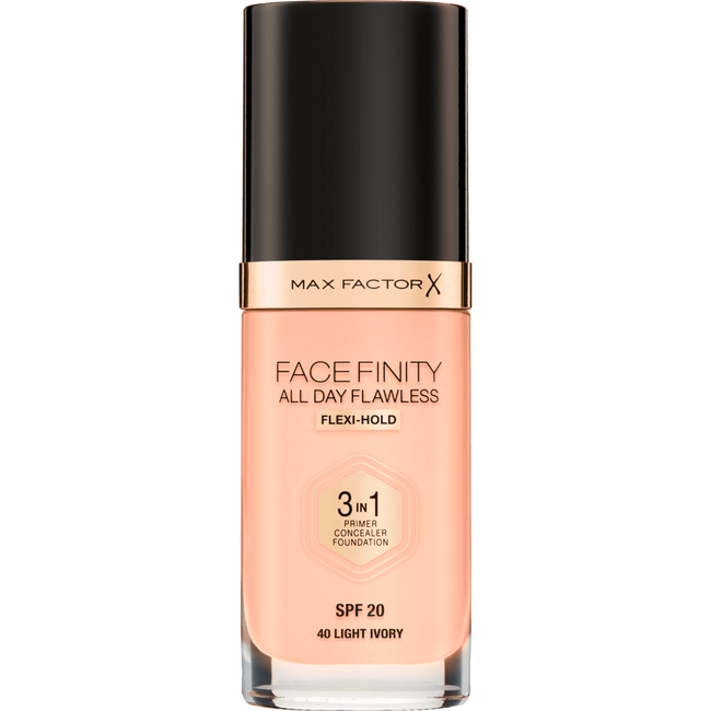 Max Factor Facefinity All Day Flawless 3-in-1 Liquid Foundation 40 Ivory