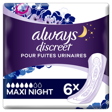 Always Discreet Plus Maxi Night Verband Voor Urineverlies 6 stuks