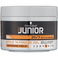 Schwarzkopf Junior Power Styling Extreme Hold Style 'N Freeze Gel