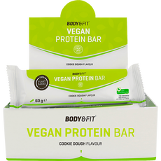 Body & Fit Vegan Protein Bar Cookie Dough 12X60G