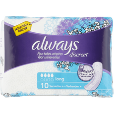 Always Discreet Plus Verband Voor Urineverlies Long 10 stuks