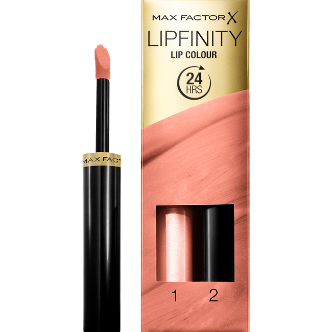 Max Factor Lipfinity Lip Colour 2-Step Long Lasting Lipstick - 006 Always Delicate