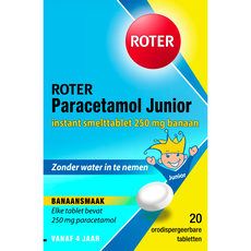 Roter Paracetamol smelttablet 250 mg Junior 20 tabletten