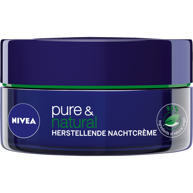 NIVEA Pure & Natural <25 Herstellende Nachtcrème
