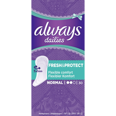 Always Dailies Fresh & Protect Inlegkruisjes Normal