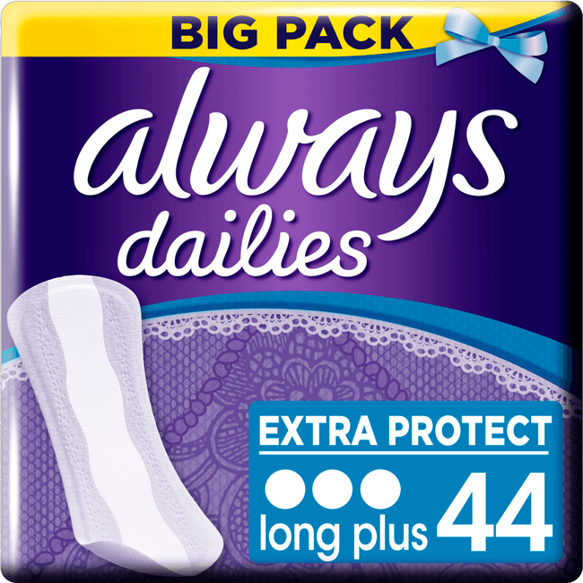 Always Dailies Extra Protect Inlegkruisjes Long Plus