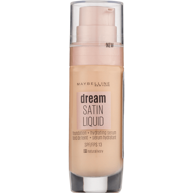 Maybelline Dream Satin Liquid Foundation 1 Natural Ivory