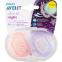Philips Avent Fopspenen Ultra Air Night Girl 0-6 mnd 2 stuks