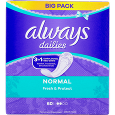 Always Dailies Fresh & Protect Inlegkruisjes Normal 60 stuks