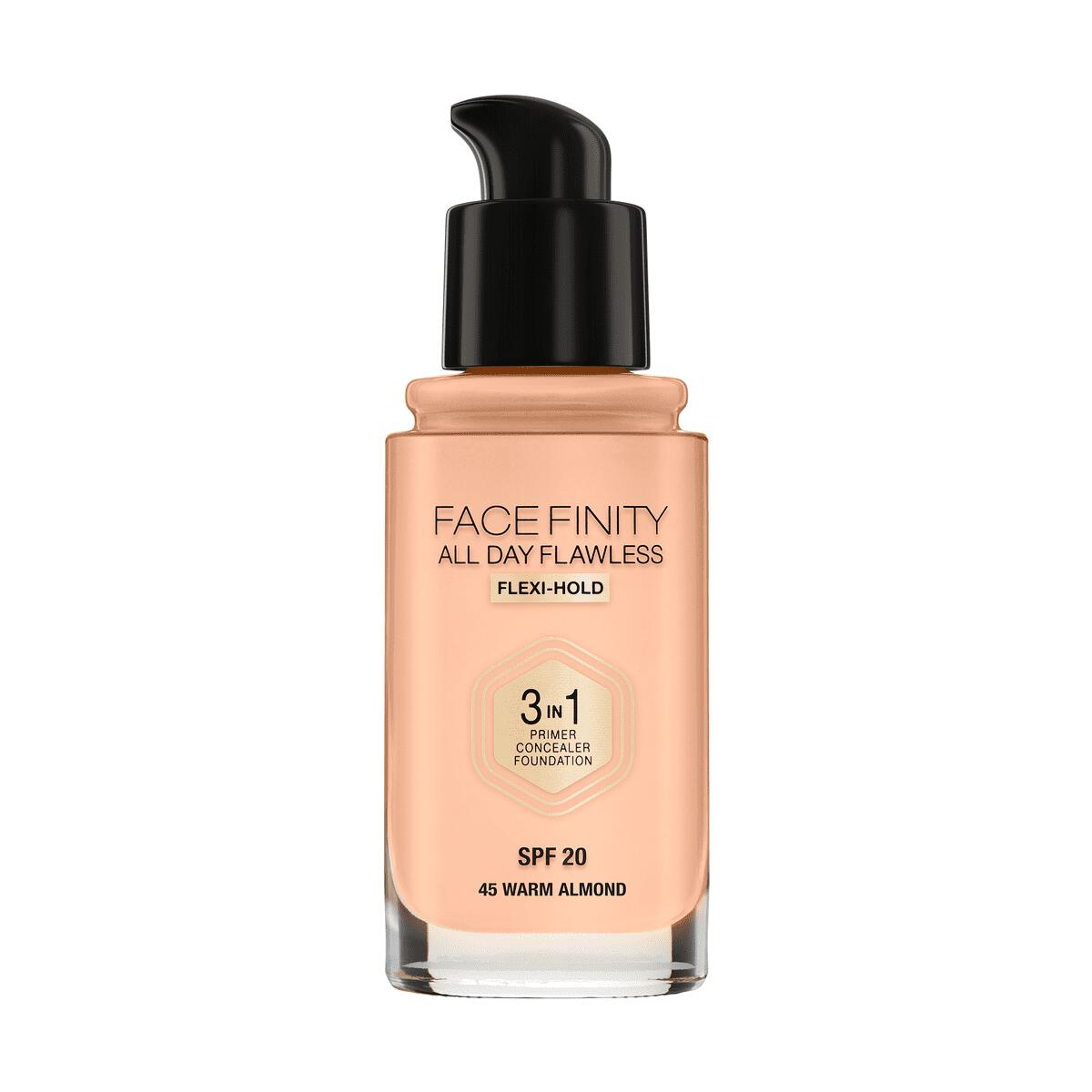 Max Factor Facefinity All Day Flawless 3-in-1 Vegan Foundation 45 Almond