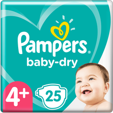 Pampers Baby-Dry Luiers 4+
