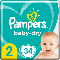 Pampers Baby-Dry Luiers 2