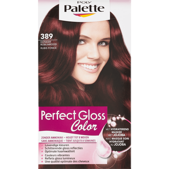 Poly Palette Perfecte Gloss Color Haarverf 389 Donker Robijnrood