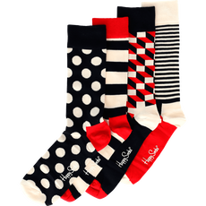 Happy Socks Giftbox 4 Pack Blue Red Stripe Dot