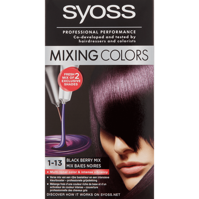 Syoss Mixing Colors Haarverf 1-13 Black Berry Mix