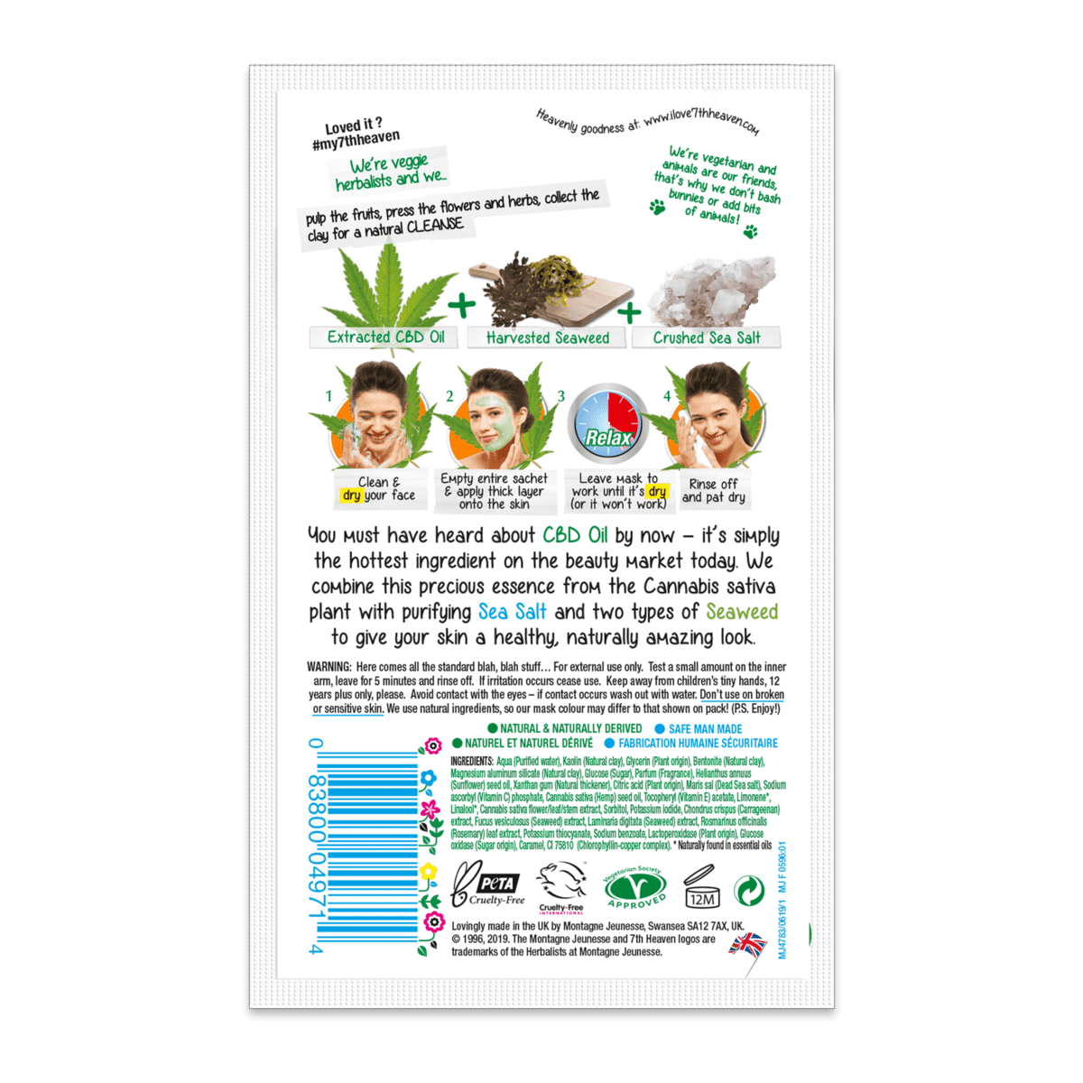 CBD-Infused Cannabis Clay Mask