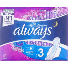 Always Platinum Ultra Night (Maat 3) Maandverband Met Vleugels