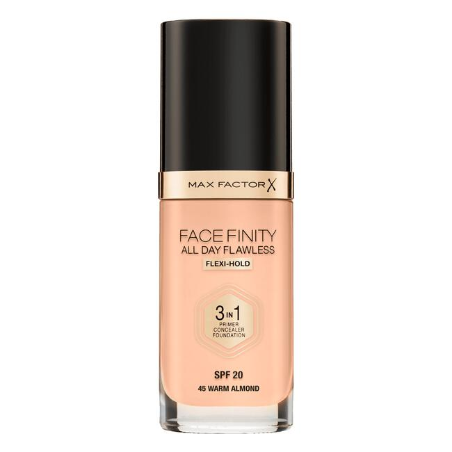 Max Factor Facefinity All Day Flawless 3-in-1 Liquid Foundation 45 Warm Almond
