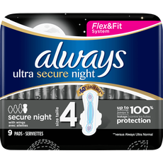 Always Ultra Maandverband Met Vleugels Secure Night