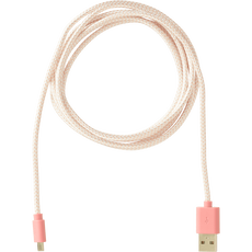 Sundaze Micro USB Braided Cable Pink 2 M