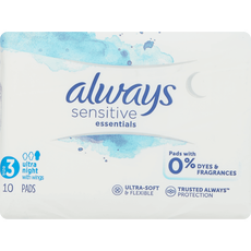 Always Sensitive Maandverband Essentials Night Met Vleugels