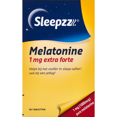 SleepzZ Melatonine 1 mg Extra Forte Tabletten