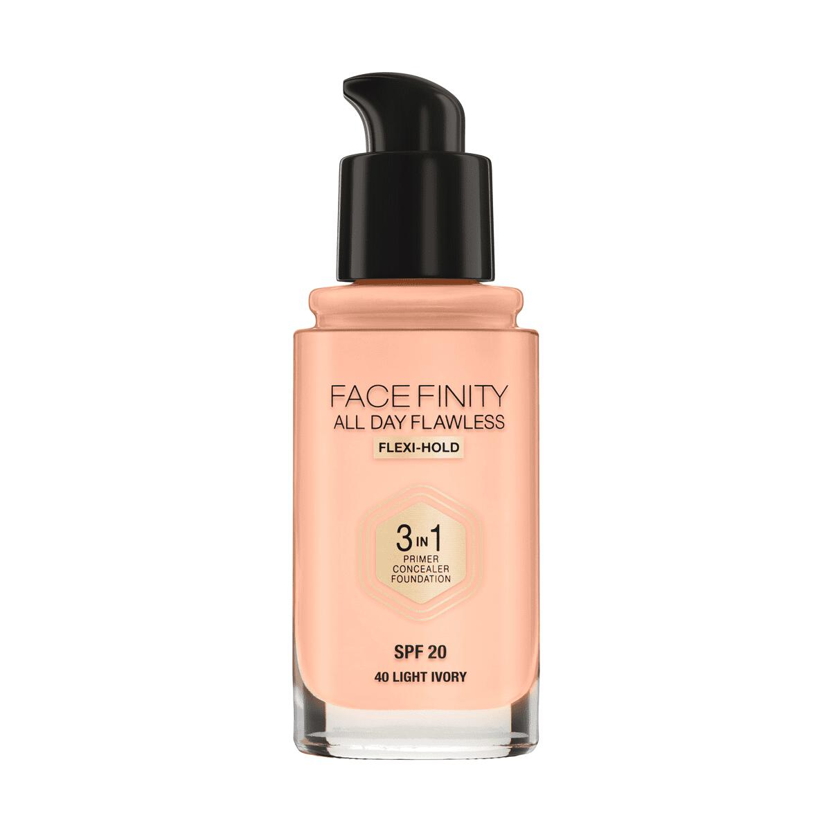 Max Factor Facefinity All Day Flawless 3-in-1 Vegan Foundation 40 Light Ivory