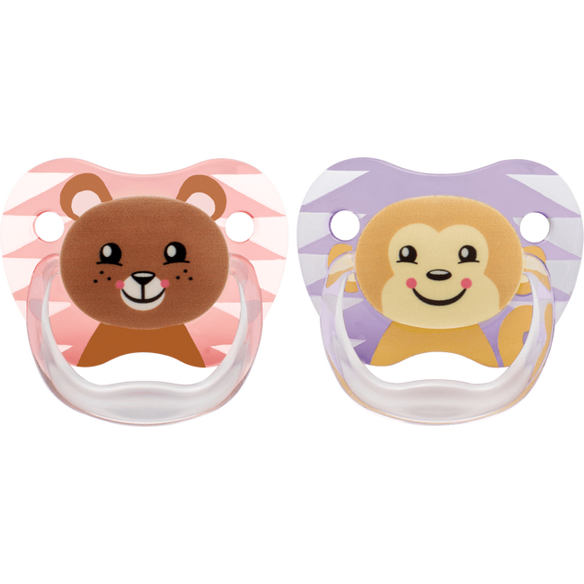 Dr. Brown'S Fopspeen Fase 2 Roze Animal Faces