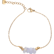 By Jam Armband Blue Lace Agate Goud