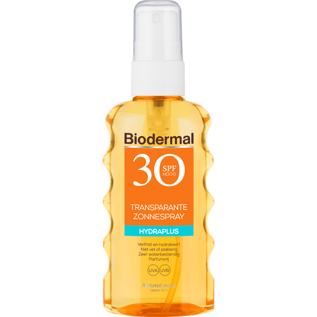 Biodermal Transparante Zonnespray Spf30