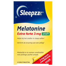 SleepzZ Extra Forte  Melatonine 3 mg Smelttabletten