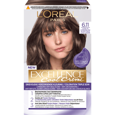 L'Oréal Paris Excellence Cool Creams 6.11 - Ultra Ash Donkerblond - Permanente Haarverf