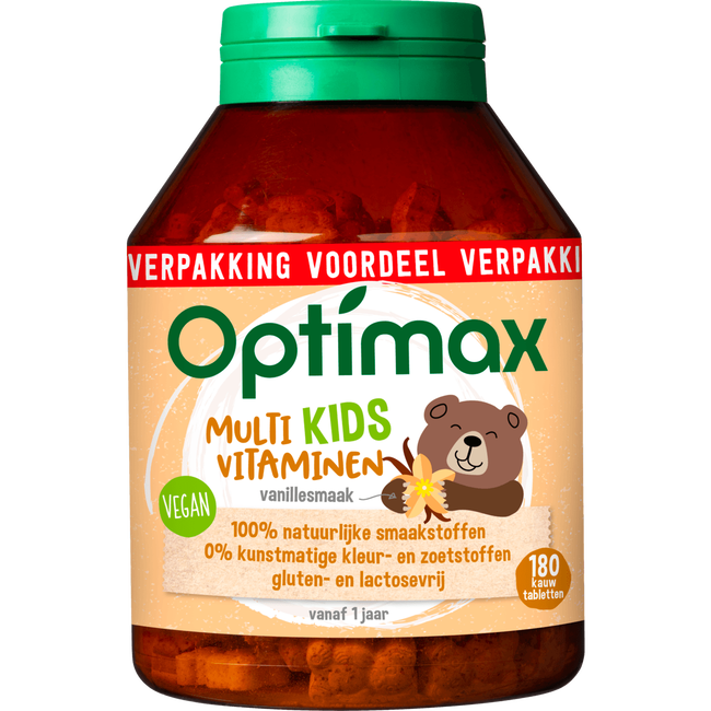 Optimax Kids 1+ Kauwtabletten Multivitaminen Vanille