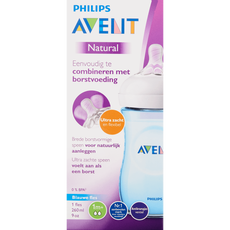 Philips Avent Natural Fles 260 ML Blauw