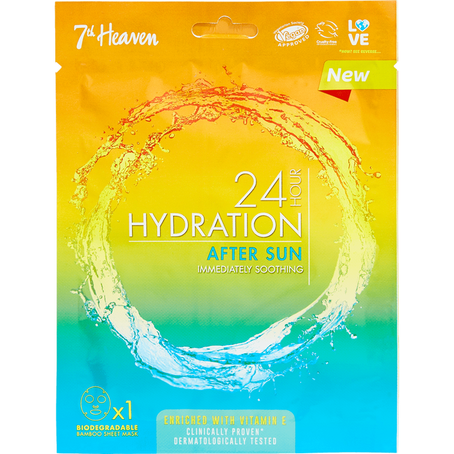 7Th Heaven 24H Hydration After Sun Sheet Masker