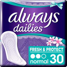 Always Dailies Fresh & Protect Inlegkruisjes Normal Fresh