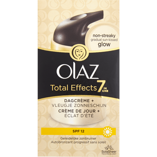 Olaz Total Effects 7-In-1 Hydraterende Dagcrème Zelfbruiner SPF12