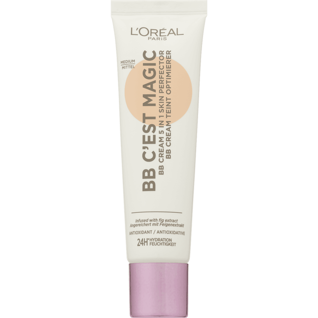 L'Oréal Paris - Glam Nude - Nude Magique BB Cream - Medium to Dark - Foundation SPF12
