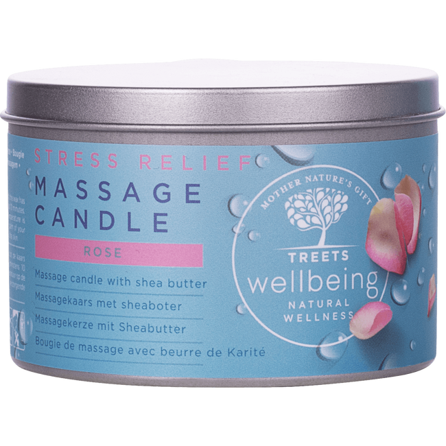 Treets Wellbeing Massage Candle Stress Relief