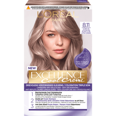 L'Oréal Paris Excellence Cool Creams 8.11 - Ultra Ash Lichtblond - Permanente Haarverf