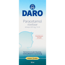 Daro Kind Paracetamol Vloeibaar 120 mg/5 ml