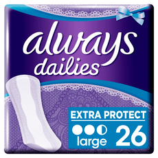 Always Dailies Extra Protect Inlegkruisjes Large