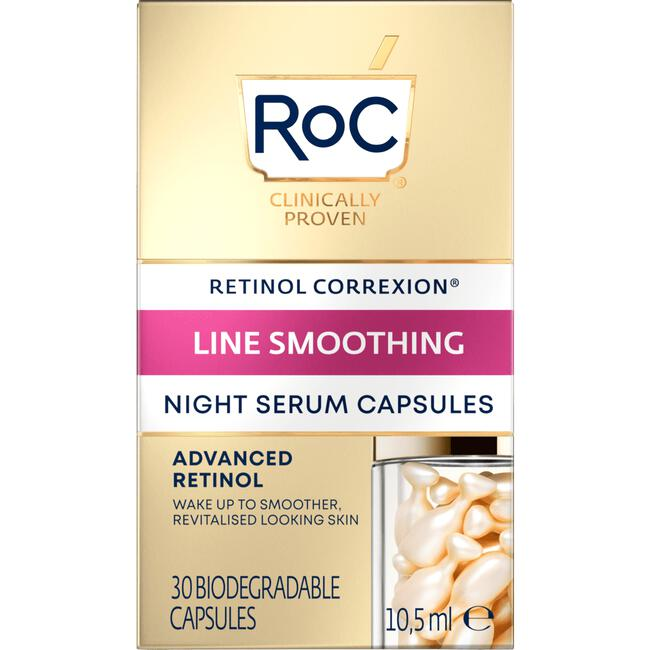 Roc Retinol Correxion Line Smoothing Night Serum Capsules