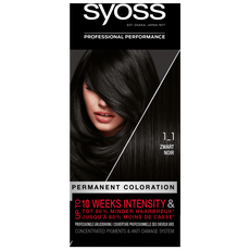 Syoss Salonplex Permanent Coloration 1-1 Zwart